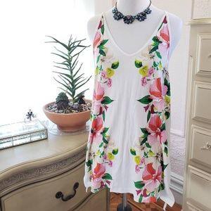 Old Navy Floral Racerback Tank Top Size M